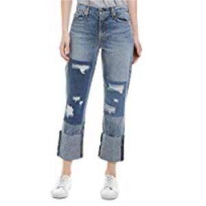 Hudson Jeans Zoeey High Rise Deep Cuff 5 Pocket